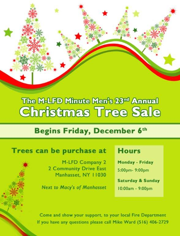 Minute Men 23rd Annual Christmas Tree Sale Begins December 6th!