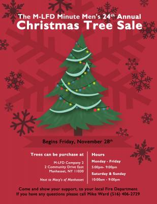 Manhasset-Lakeville F.D. Minute Men Host 24th Annual Christmas Tree Sale